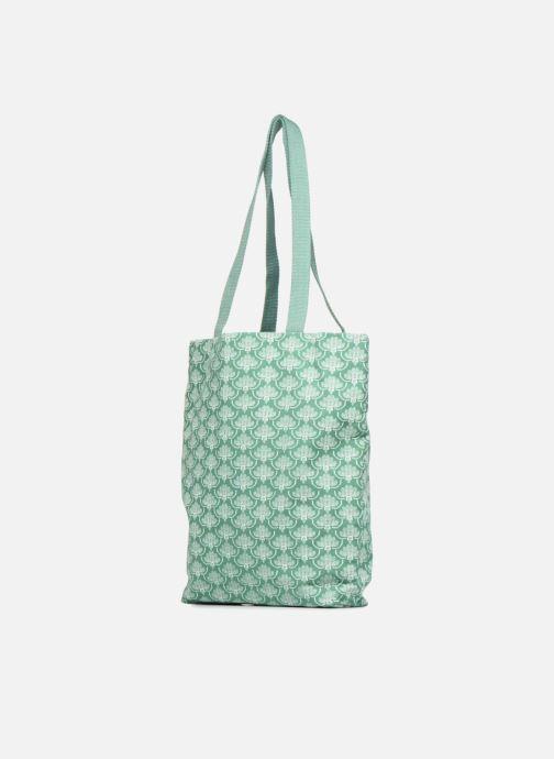 Bolsos de mano Monoprix Femme Tote-bag imprimé Verde vista lateral derecha