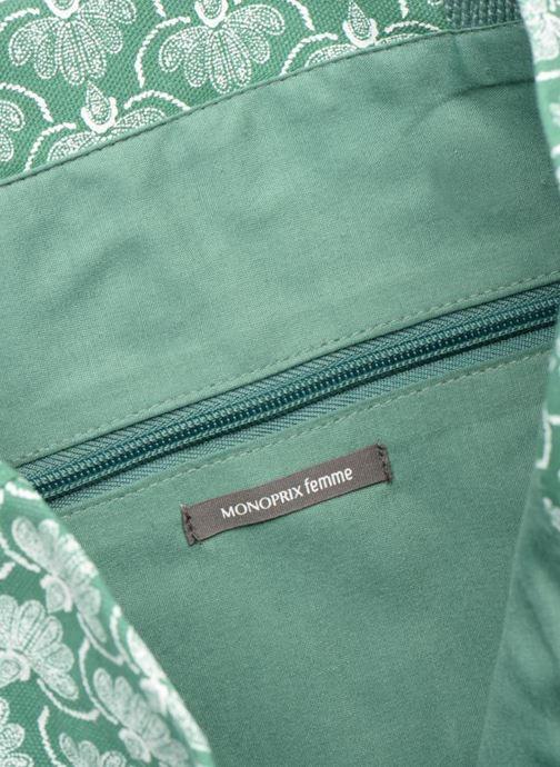 Bolsos de mano Monoprix Femme Tote-bag imprimé Verde vistra trasera