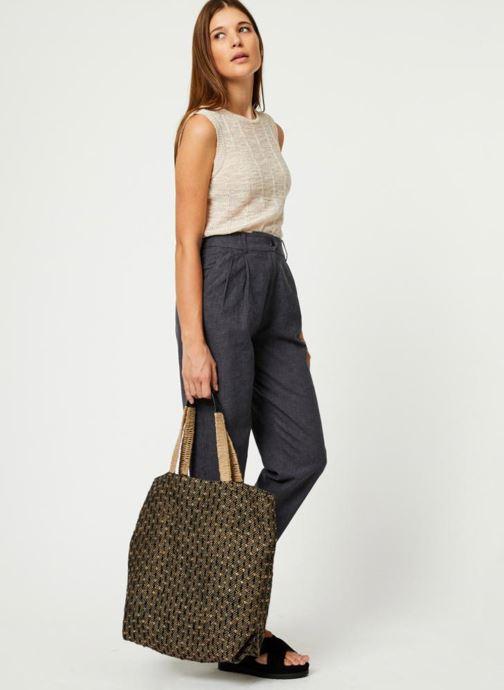 Handtassen Monoprix Femme Cabas en jute Geel boven