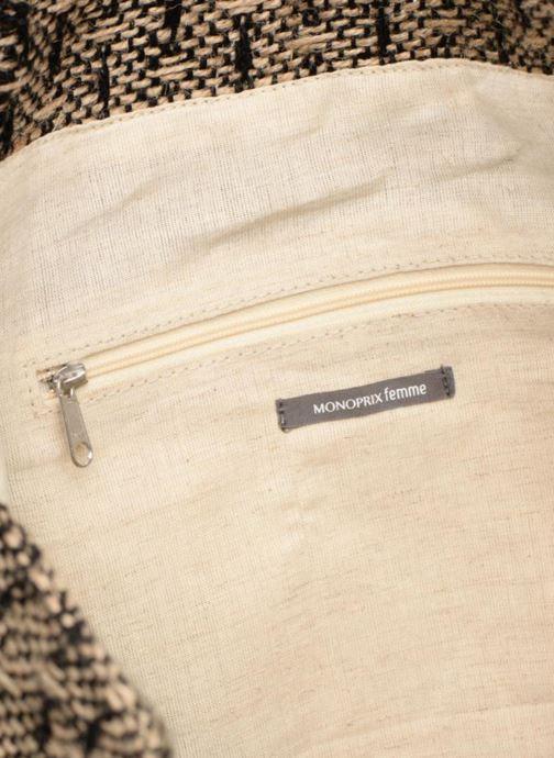 Borse Monoprix Femme Cabas en jute Giallo immagine posteriore