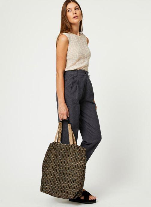 Handtassen Monoprix Femme Cabas en jute Geel onder