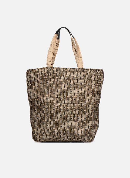 Handtassen Monoprix Femme Cabas en jute Geel detail