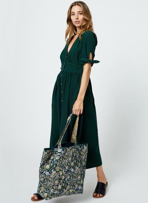 Handtassen Monoprix Femme Tote-bag fleurs Beige boven