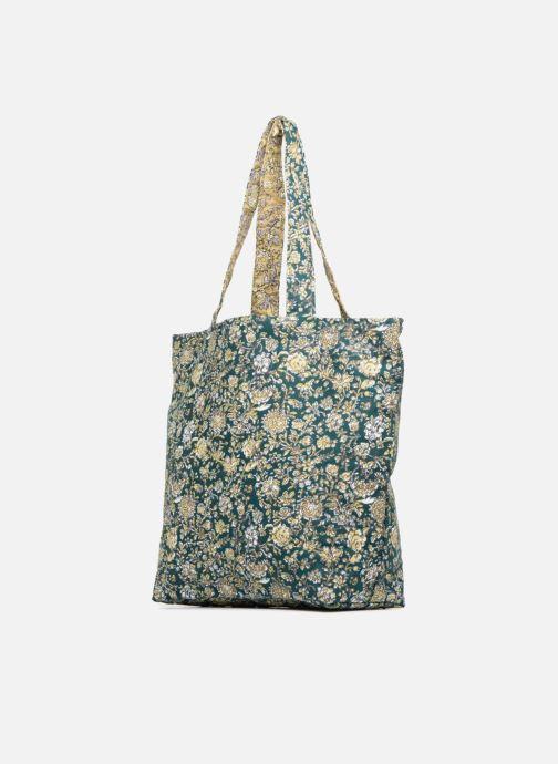 Sacs à main Monoprix Femme Tote-bag fleurs Beige vue portées chaussures