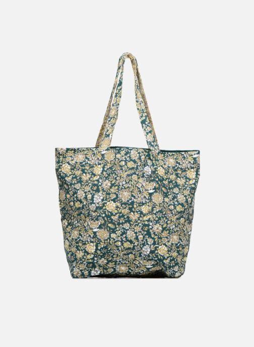 Handtassen Monoprix Femme Tote-bag fleurs Beige voorkant