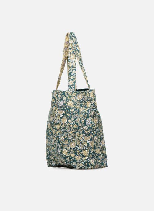 Handtassen Monoprix Femme Tote-bag fleurs Beige rechts
