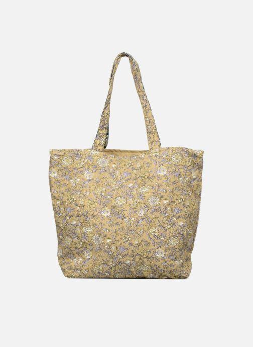 Sacs à main Monoprix Femme Tote-bag fleurs Jaune vue face