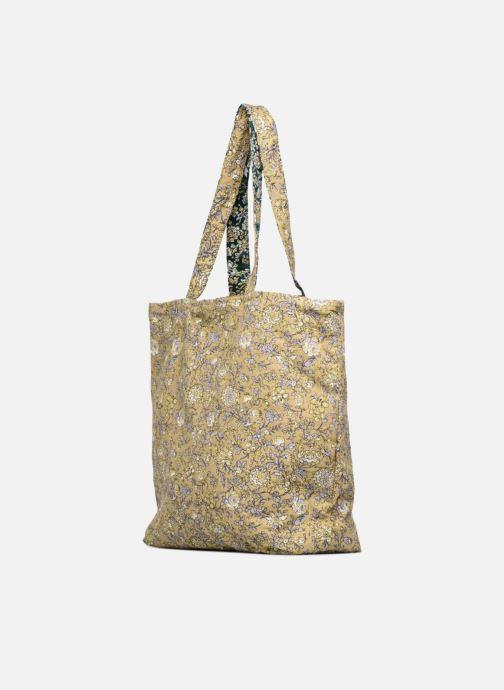 Sacs à main Monoprix Femme Tote-bag fleurs Jaune vue droite
