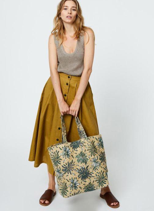 Borse Monoprix Femme Tote-bag imprimé Britany Giallo immagine dal basso