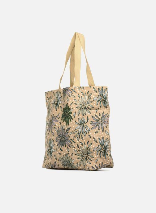 Borse Monoprix Femme Tote-bag imprimé Britany Giallo modello indossato