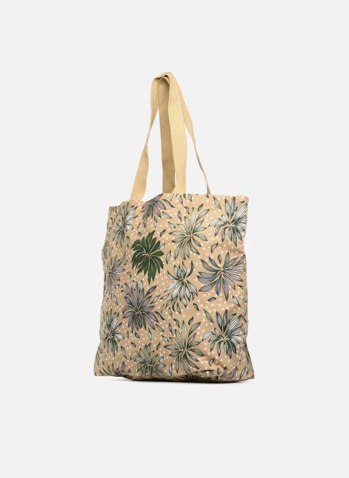 Sacs à main Monoprix Femme Tote-bag imprimé Britany Jaune vue droite