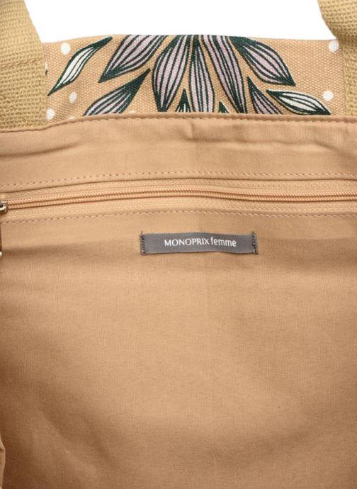 Handbags Monoprix Femme Tote-bag imprimé Britany Yellow back view