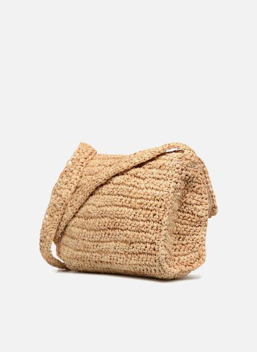 Bolsos de mano Monoprix Femme Sac porté épaule pompon Amarillo vista lateral derecha
