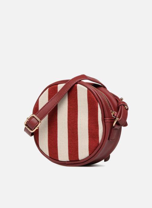 Bolsos de mano Monoprix Femme Sac rond rayé Rojo vista del modelo