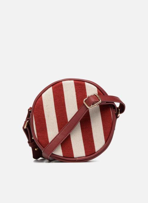 Bolsos de mano Monoprix Femme Sac rond rayé Rojo vista de frente