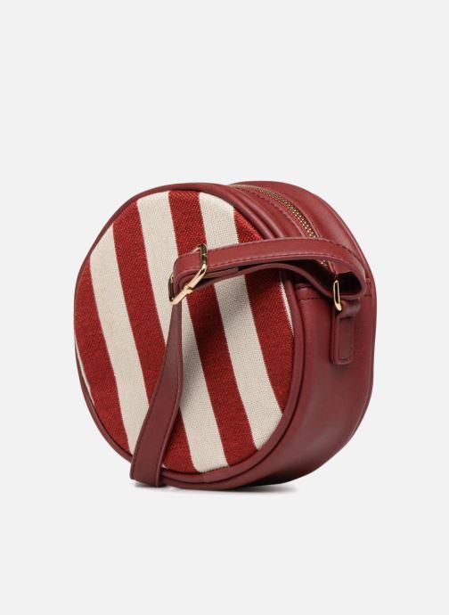 Bolsos de mano Monoprix Femme Sac rond rayé Rojo vista lateral derecha