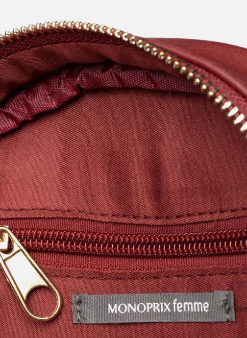 Bolsos de mano Monoprix Femme Sac rond rayé Rojo vistra trasera