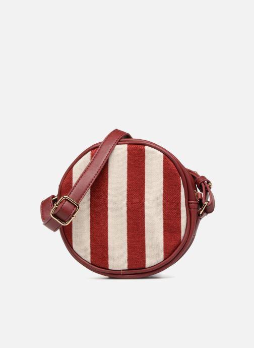 Bolsos de mano Monoprix Femme Sac rond rayé Rojo vista de detalle / par