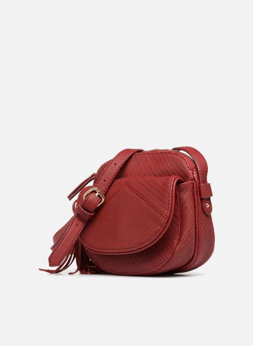 Borse Monoprix Femme Sac rond Rosso modello indossato
