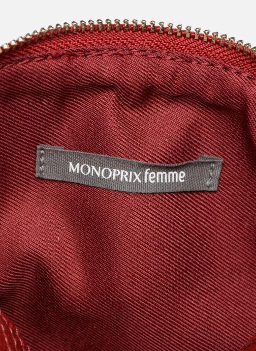 Handtassen Monoprix Femme Sac rond Rood achterkant