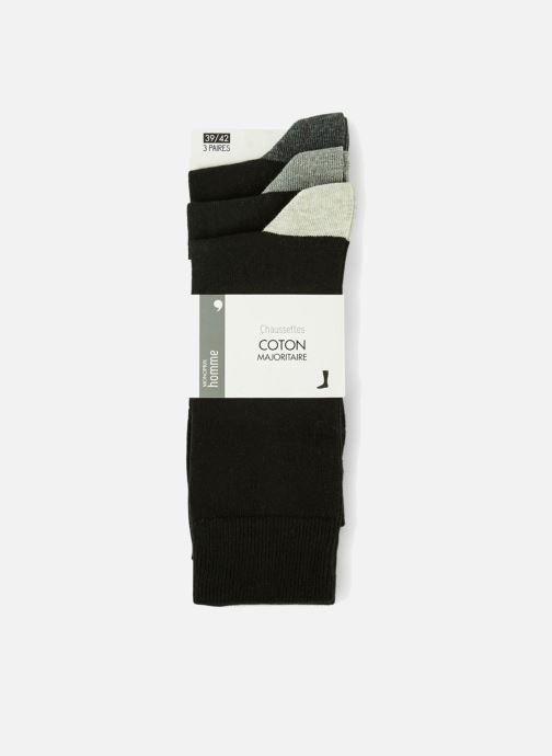 Sokken en panty's Monoprix Homme Lot de 3 chaussettes homme Zwart detail