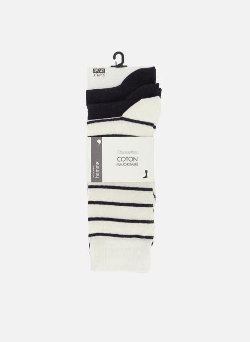 Chaussettes et collants Monoprix Homme Chaussettes marinière lot de 3 Multicolore vue détail/paire