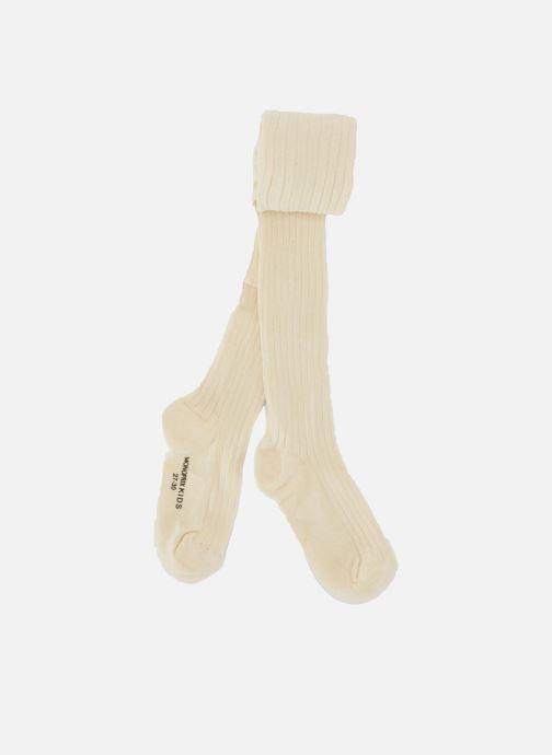 Chaussettes et collants Monoprix Kids Collants coton côtes Blanc vue détail/paire