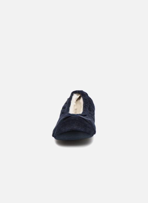 Hausschuhe Monoprix Kids Ballerines velours blau schuhe getragen
