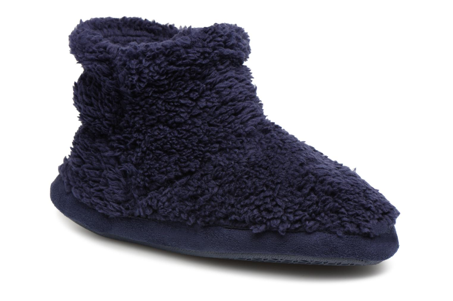 Slippers Monoprix Kids Chaussons Blue detailed view/ Pair view