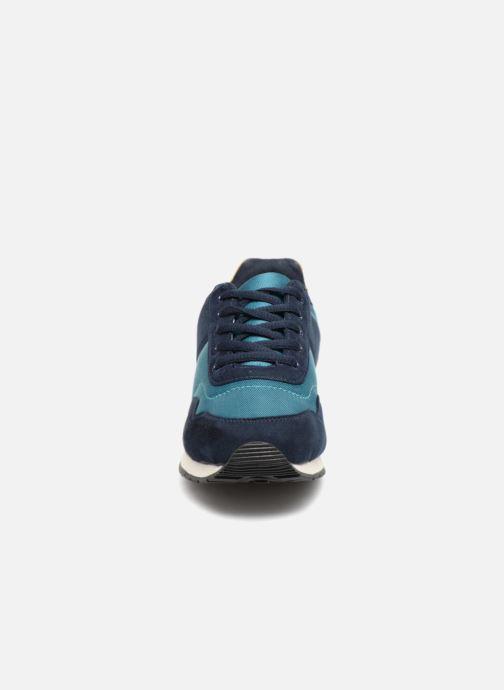 Sneakers Monoprix Kids Baskets à lacets Azzurro modello indossato
