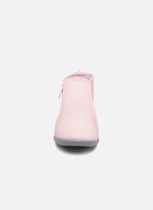 Chaussons Bout'Chou Chaussons Rose vue portées chaussures