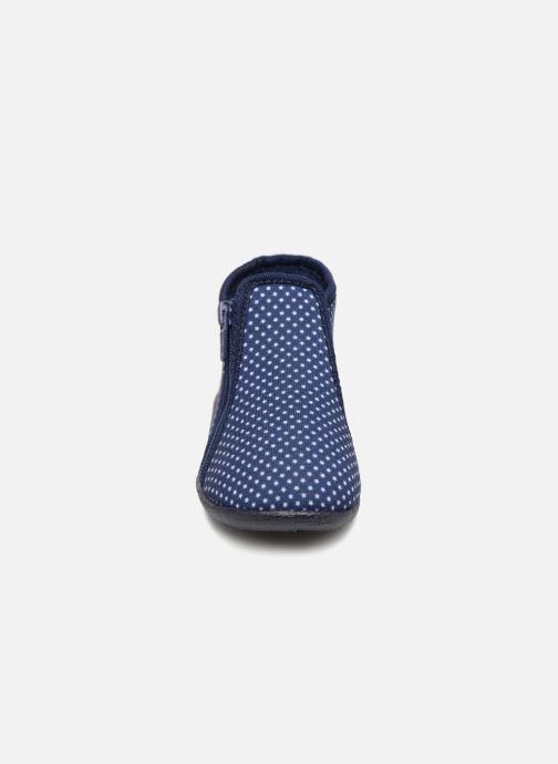 Hausschuhe Bout'Chou Chaussons blau schuhe getragen
