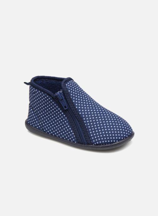 Hjemmesko Bout'Chou Chaussons Blå detaljeret billede af skoene