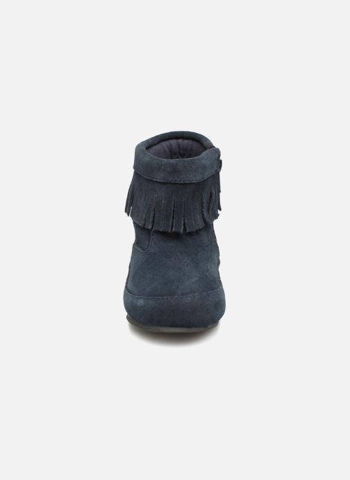 Bottines et boots Bout'Chou Bottines à franges Bleu vue portées chaussures