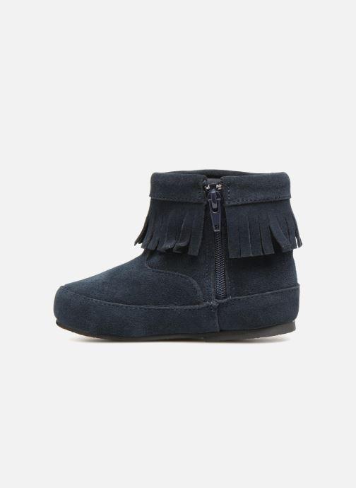 Bottines et boots Bout'Chou Bottines à franges Bleu vue face
