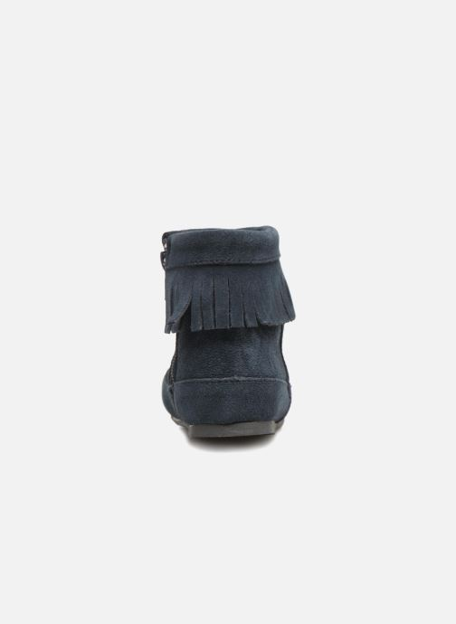 Ankle boots Bout'Chou Bottines à franges Blue view from the right