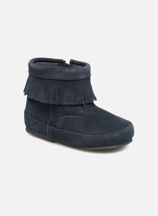 Ankle boots Bout'Chou Bottines à franges Blue detailed view/ Pair view