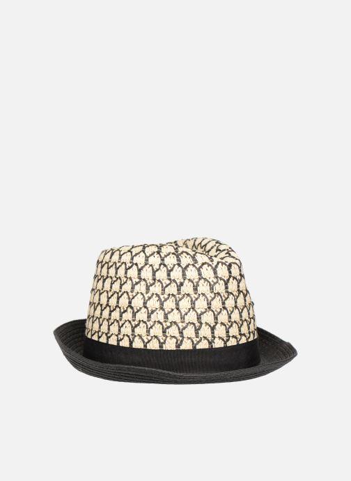 Chapeaux Monoprix Femme Chapeau bicolore Noir vue portées chaussures