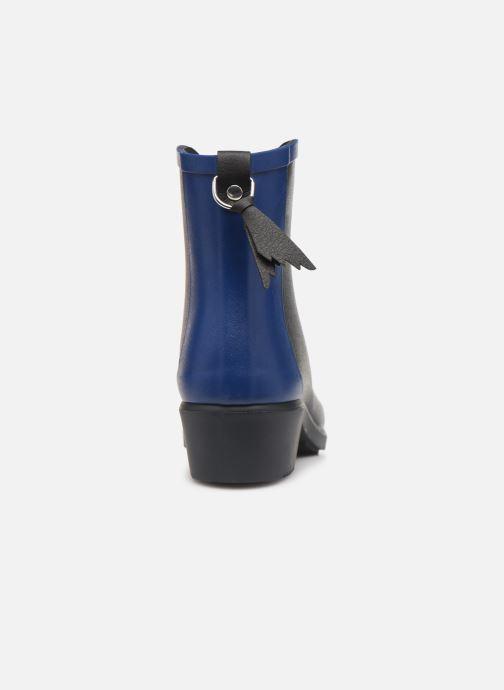 Bottines et boots Aigle Ms jul bot col Bleu vue droite