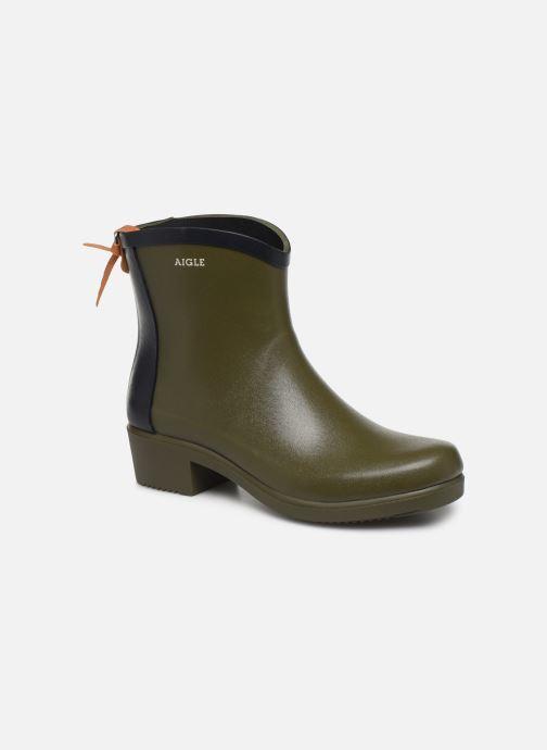 Bottines et boots Aigle Ms jul bot col Vert vue détail/paire