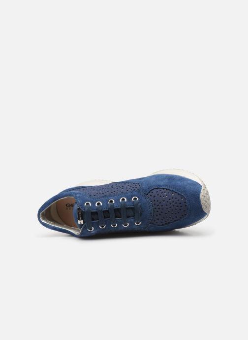 Baskets Geox D Happy A D5262A Bleu vue gauche