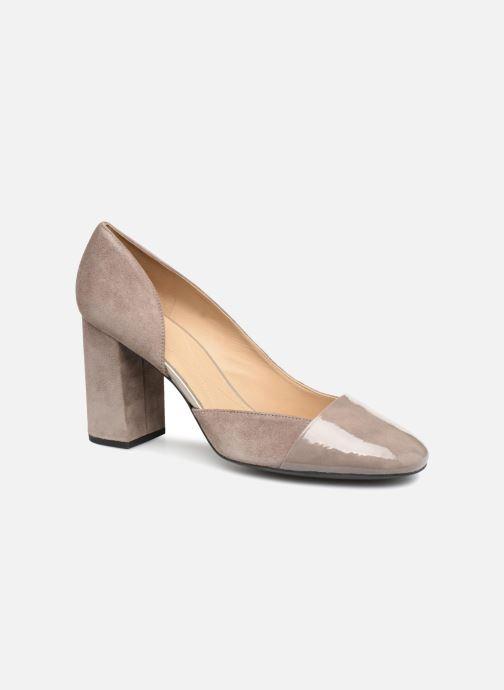 High heels Geox D Audalies H.C D723XC Grey detailed view/ Pair view