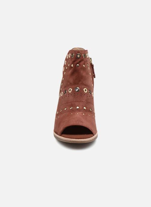 Bottines et boots Geox D N.Callie C D7240C Marron vue portées chaussures