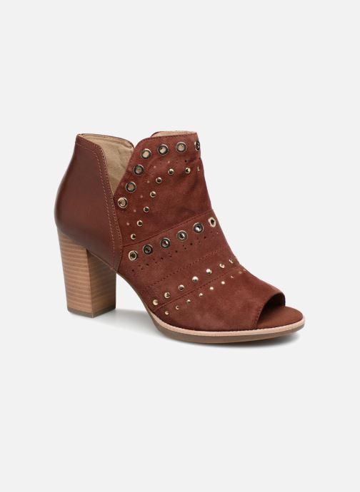 Bottines et boots Geox D N.Callie C D7240C Marron vue détail/paire