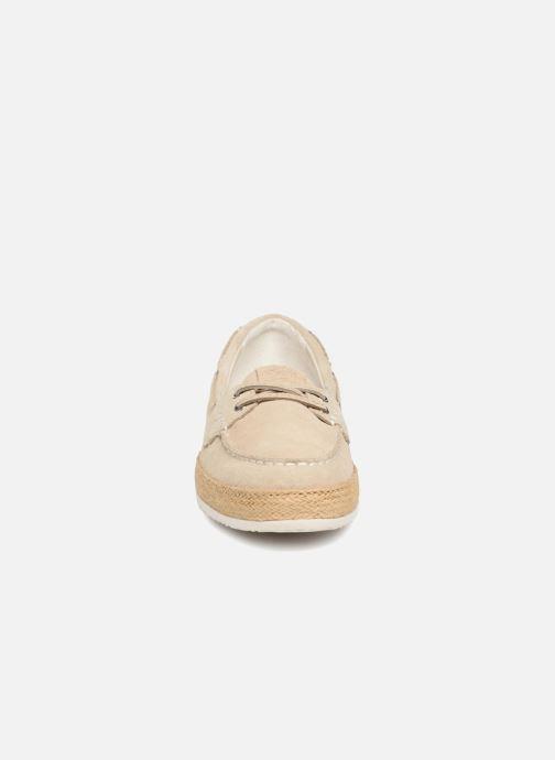 Mocassins Geox D Maedrys C D724EC Beige vue portées chaussures