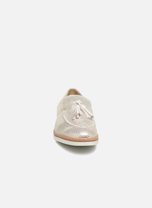 Mocassins Geox D Janalee E D725AE Blanc vue portées chaussures
