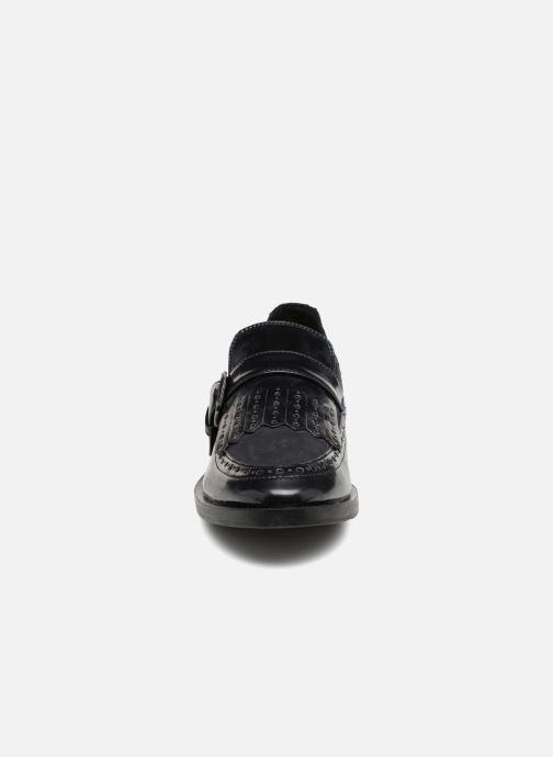 Mocassins Geox D Brogue F D742UF Bleu vue portées chaussures
