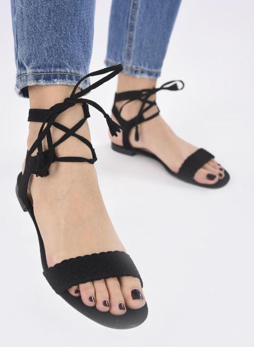 Sandales et nu-pieds I Love Shoes Golice Noir vue bas / vue portée sac