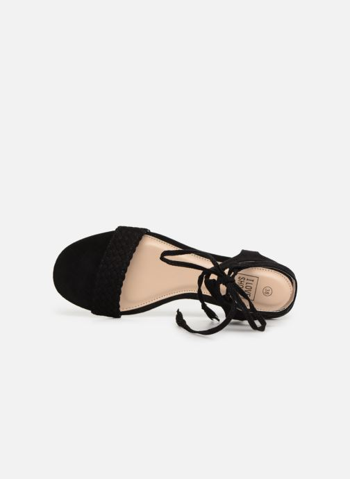 Sandales et nu-pieds I Love Shoes Golice Noir vue gauche