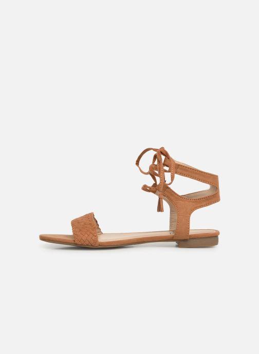 Sandales et nu-pieds I Love Shoes Golice Marron vue face